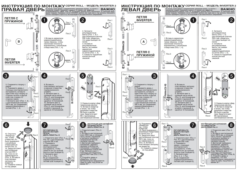 Инструкция по установке петель, maggi, серия Roll